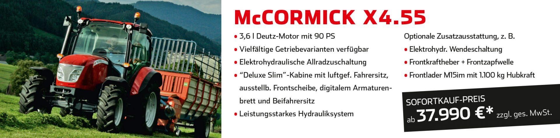 McCormick Sofortkauf-Aktion bei Land- und Gartentechnik Gstöttenmeier, Wartberg ob der Aist, Freistadt